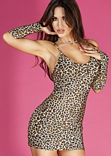 Ensemble mini robe Cheetah